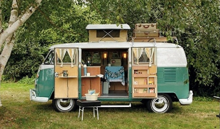 Outfitted VW Van for Camping