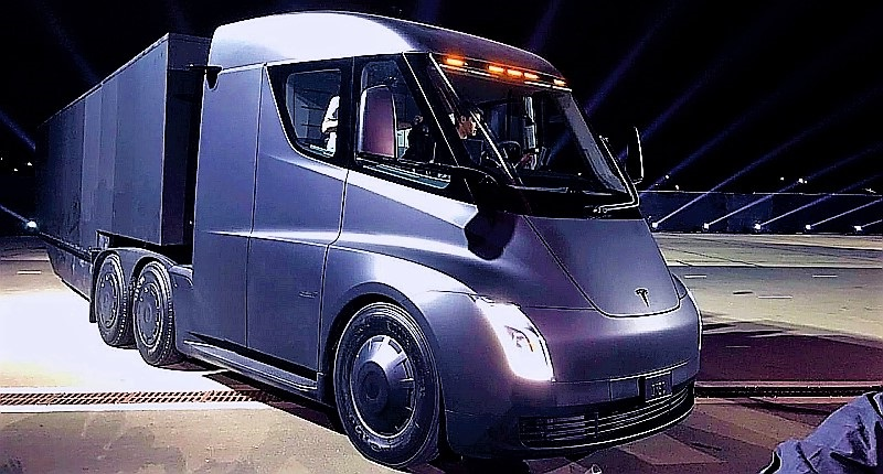 Tesla Semi Tractor... Fully-loaded 0-60 in 20 seconds