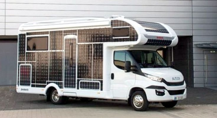 This Motorhome is powered by Solar Panels